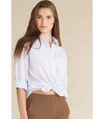 keiko striped button-down shirt