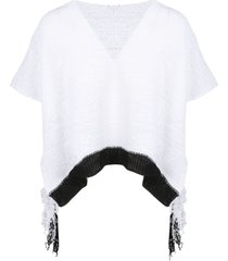 pierantoniogaspari cropped fringes sweater