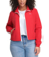levi's trendy plus size coaches track jacket