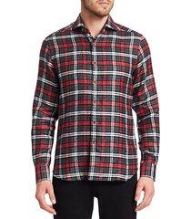 collection linen check shirt