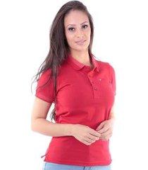 camisa polo regular em meia malha traymon feminina