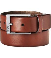 hugo boss men's garney plaque-buckle dress belt