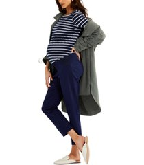 a pea in the pod maternity straight-leg twill pants