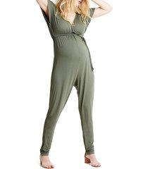 women's ingrid & isabel crossover maternity jumpsuit