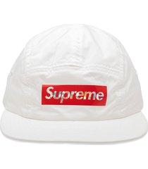 supreme holographic logo camp cap - white