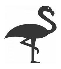enfeite decorativo pássaro flamingo silhueta preto 43x30x1cm