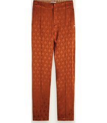 scotch & soda pantalon met paisleyprint