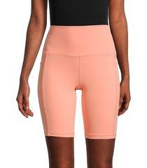 spyder women's hight-waist biker shorts - marigold - size s