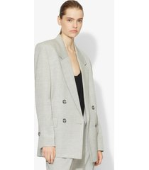 proenza schouler lightweight suiting blazer grey melange 0