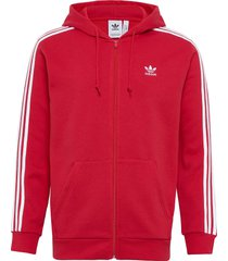 3-stripes fz hoodie trui rood adidas originals