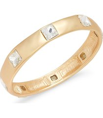 kenneth jay lane women's 22k goldplated & crystal bangle bracelet