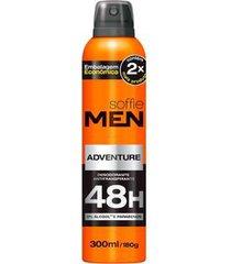 desodorante aerosol soffie men adventure masculino 300ml