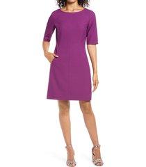 women's tahari crepe sheath dress, size 10 - purple