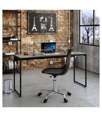mesa de escritório studio preta 150 cm