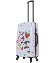 "halina nikki chalinau whalinaatever 24"" hardside spinner luggage"