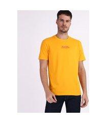 camiseta garfield masculina manga curta gola careca amarela
