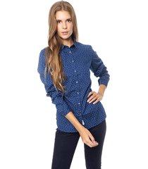camisa azul tommy hilfiger delia shirt ls w2