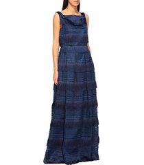 alberta ferretti dress alberta ferretti long dress with fringes