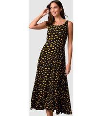 jurk alba moda zwart::geel