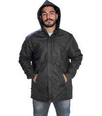 jaqueta casaco acolchoado impermeável seychellis capuz removível preto