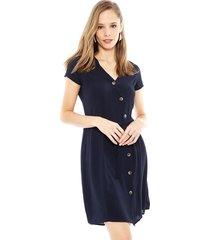 vestido vero moda annika azul - calce holgado