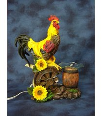 large rooster oil/tart warmer - compatible with scentsy and yankee candle wax