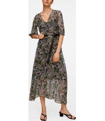 mango women's printed retro dress