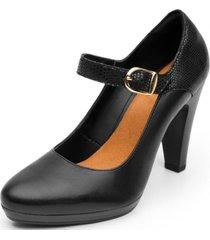 zapato cuero formal negro granada flexi