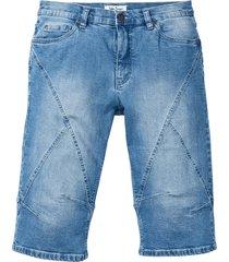 bermuda lunghi in jeans elasticizzato regular fit (blu) - john baner jeanswear