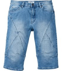 bermuda lungo in jeans elasticizzato regular fit (blu) - john baner jeanswear