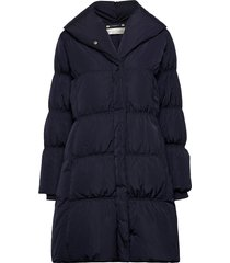liyaiw cups coat gevoerde lange jas blauw inwear