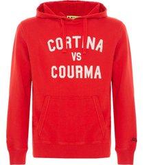 cortina courma red hoodie