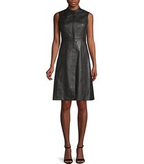 allexandria faux leather dress