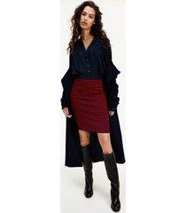 tommy hilfiger women's monogram midi pencil skirt primary red / desert sky - xxxl