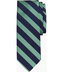 corbata textured rugby stripe verde brooks brothers
