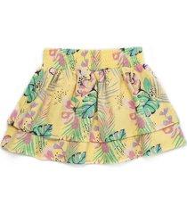 falda corta amarillo offcorss