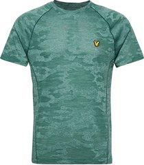 camo sports tee t-shirts short-sleeved grön lyle & scott sport