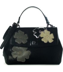 cartera c/ solapa galatea negro xl