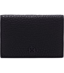 women's dagne dover accordion leather card case - black