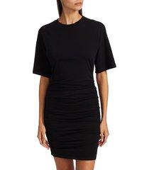 n:philanthropy women's ranger ruched t-shirt dress - black - size xs
