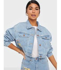 wrangler 80's cropped jacket honolulu jeansjackor