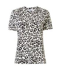 kenzo camiseta com estampa de leopardo - branco