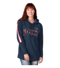 g-iii sports new england patriots women's double team tunic hoodie