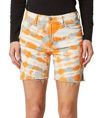 hudson women's hana tie-dye biker shorts - magnetic - size 29 (6-8)