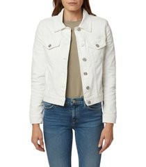 hudson jeans classic denim trucker jacket, size x-small in white at nordstrom