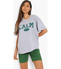 oversized overdye calm t-shirt, grey