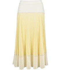 proenza schouler crepe colorblock pleated skirt