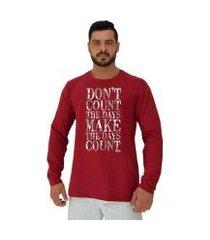 camiseta manga longa moletinho mxd conceito don't count the days