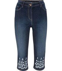 jeans 3/4 con bordura stampata (nero) - bpc bonprix collection