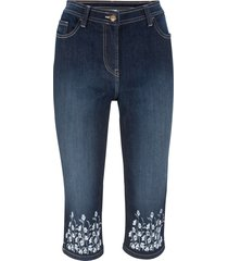 jeans 3/4 con bordura stampata (nero) - bpc bonprix collection